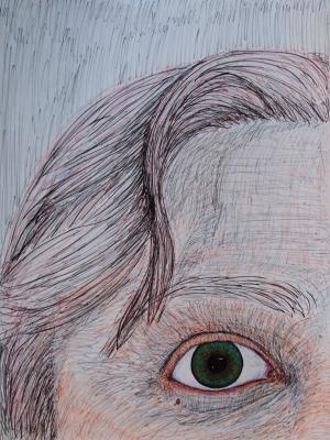 1/4 face Eye