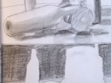 graphite still life space