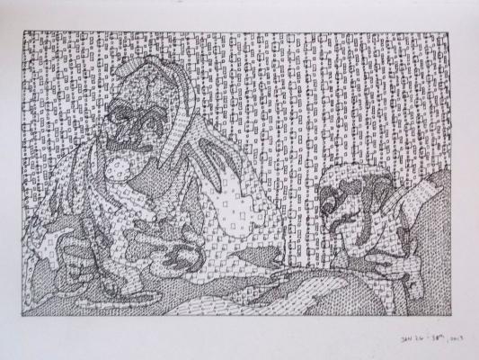 Goya repro done in pattern